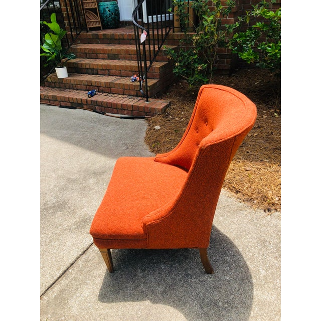 Mid-Century Modern Burnt Orange Chairs - a Pair For Sale - Image 12 of 13