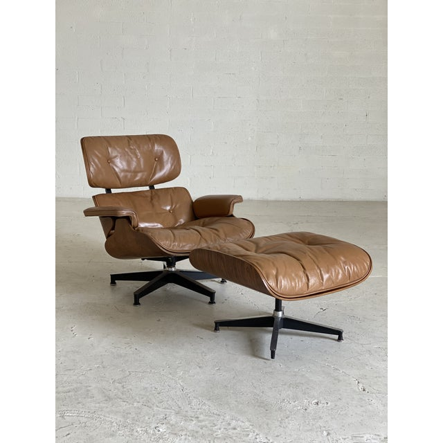 1970s Vintage Herman Miller Leather Lounge Chair Amp Ottoman