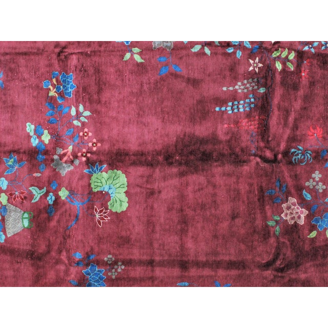 1920s 1920s Antique Leon Banilivi Chinese Carpet - 8′9″ × 11′5″ For Sale - Image 5 of 7