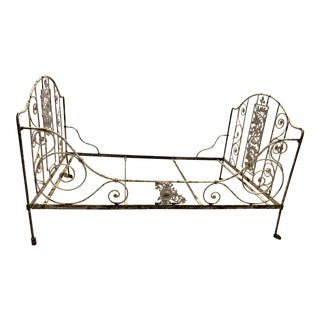 19th Century Iron Campaign Daybed With Castors