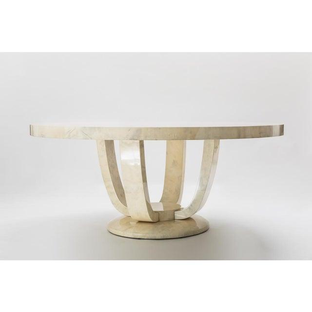Karl Springer LTD Monumental Goatskin Dining Table, Usa For Sale - Image 4 of 5
