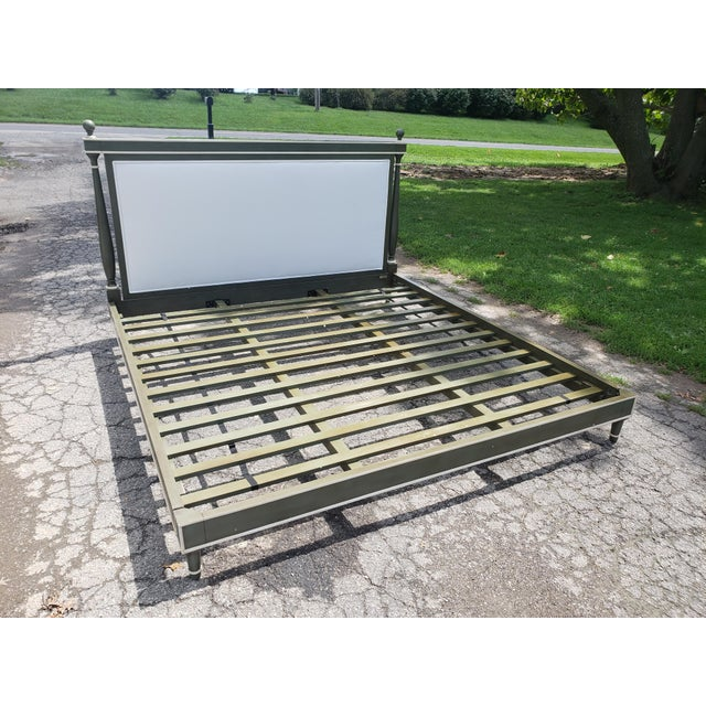 Bunny William's King Size Empire Bed Green/Grey For Sale - Image 10 of 10