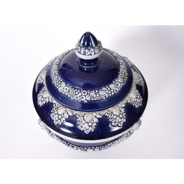 Ceramic German Porcelain Covered Decorative Piece For Sale - Image 7 of 10