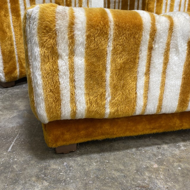 Groovy 70s Carpeted Tables Bench Set - a Set of 3 For Sale - Image 10 of 12