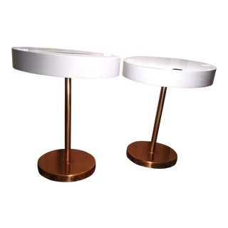 Contemporary Brass End Tables - a Pair For Sale