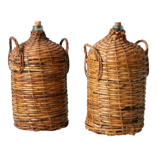Antique Demijohns - a Pair For Sale