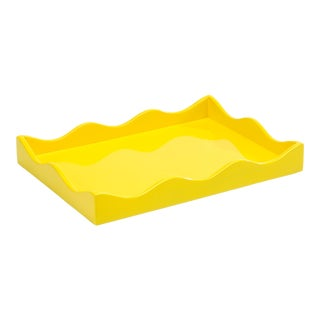 Rita Konig Collection Small Belles Rives Tray in Citron Yellow For Sale