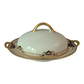 1920's Royal Bayreuth Bavaria Round Butter Dish – Belmont Pattern For Sale