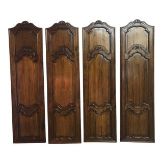 Vintage French Carved Walnut Doors-Set of 4 For Sale