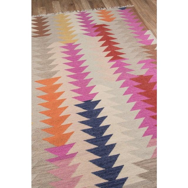"""Boho Chic Momeni Caravan Hand Woven Multi Wool Runner - 2'3"""" X 8' For Sale - Image 3 of 7"""