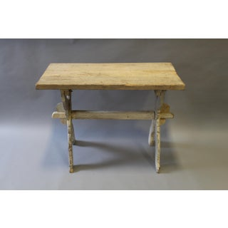 Bleached Pine Table With Trestle Base Preview