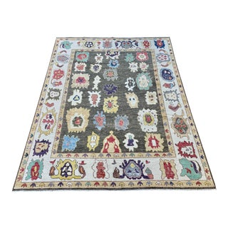 """Brown Oushak Rug- 9'3""""x12' For Sale"""