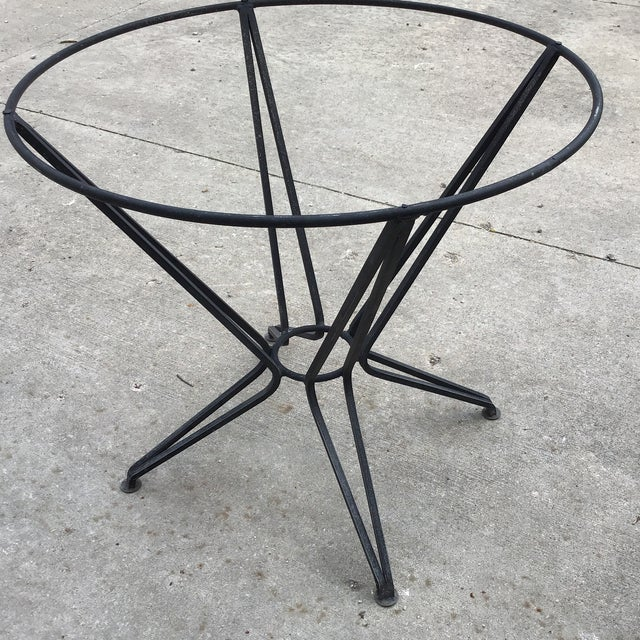 Abstract 20th Century Salterini Tempestini Wrought Iron Dining Patio Table Last Call For Sale - Image 3 of 9