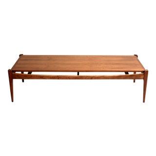 Midcentury Modern Bassett Artisan Collection Walnut Coffee Table For Sale