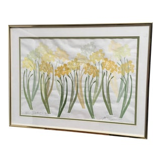 Framed April Daffodils Painting For Sale