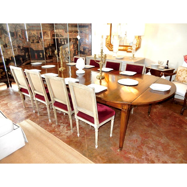 Brown Louis XVI Directoire' Extension Dining Table For Sale - Image 8 of 9