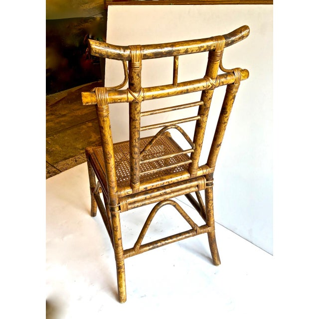Mid 20th Century Chinoiserie Pagoda-Back Side Chairs, Set of 4 For Sale - Image 5 of 6