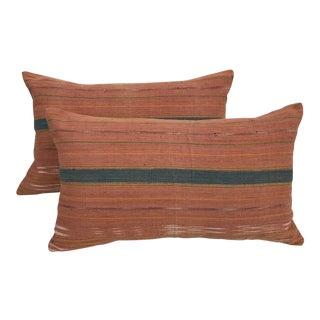 Woven Neutral Thai Textile Pillows - A Pair