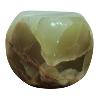 Carved Onyx Cube For Sale