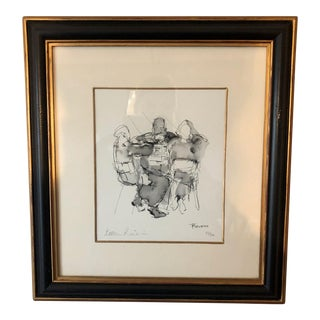 British Music Drawing Framed by Bella Pieroni For Sale