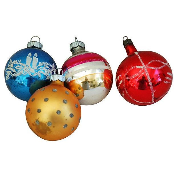 1960s Christmas Ornaments with Box - Set of 12 - Image 4 of 9