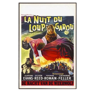 """Belgian Movie Poster From """"The Curse of the Werewolf"""", Circa 1961 For Sale"""