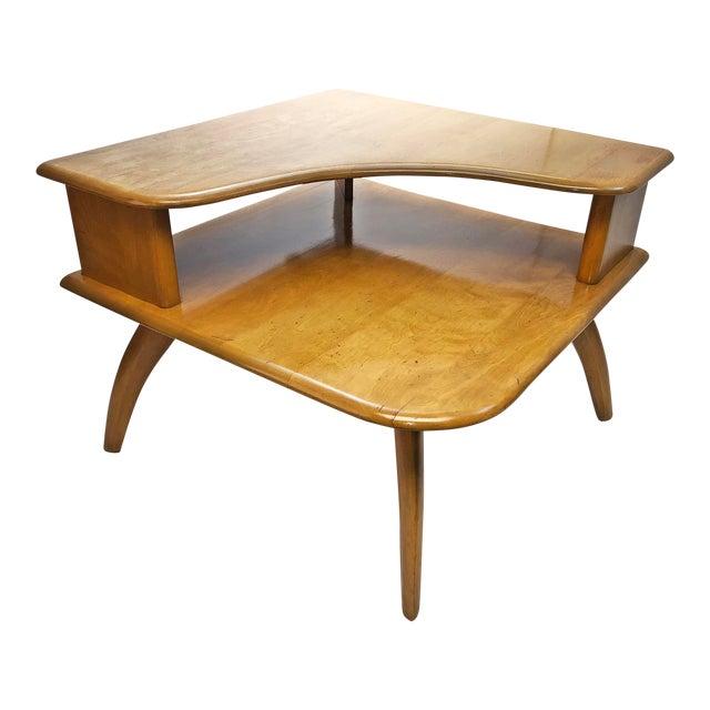 Mid Century Modern Heywood Wakefield Corner Table Chairish - Mid century modern corner table