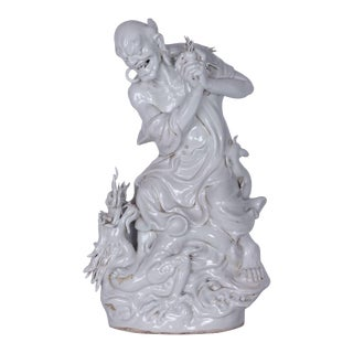 Vintage Blanc De Chine Chinese Deity For Sale