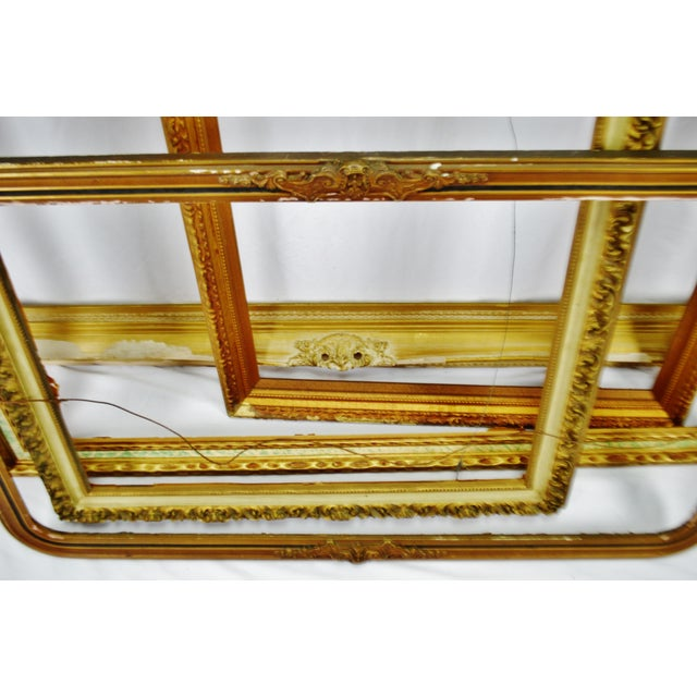 Traditional Vintage Large Wood Picture Frames - Group of 5 For Sale - Image 3 of 13