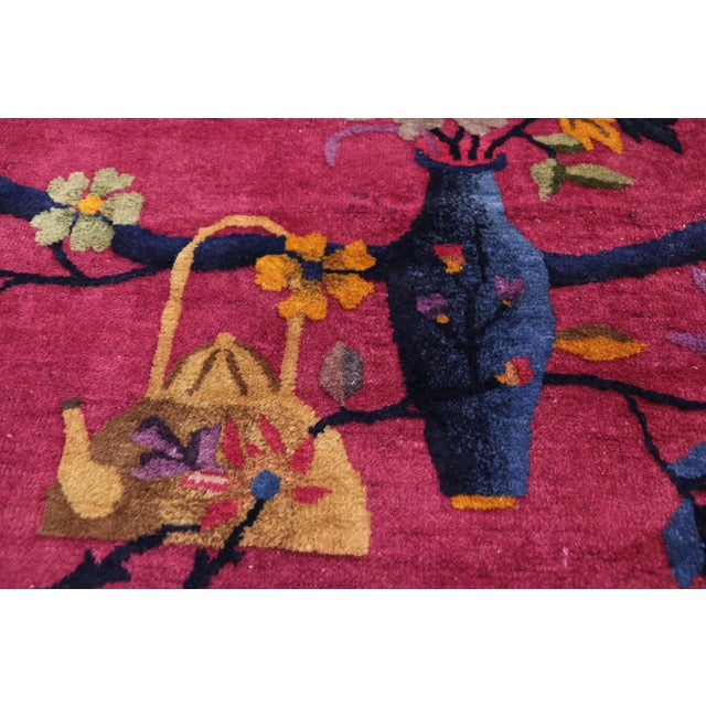 1920s Antique Chinese Art Deco Rug - 8′10″ × 11′7″ For Sale - Image 4 of 10