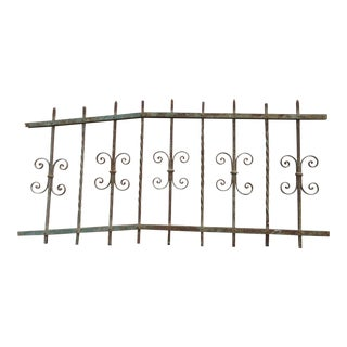 Antique Victorian Iron Garden Fence Element For Sale