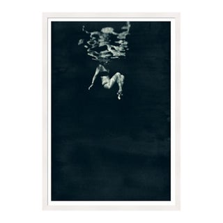 White Framed 'Splash' Print by Enric Gener For Sale