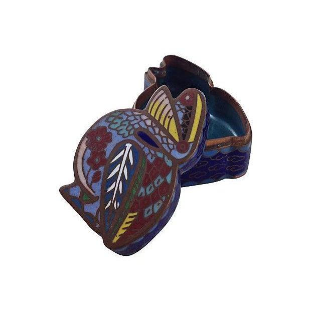 Antique Cloisonné Pelican Box - Image 5 of 7
