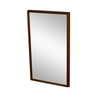 Danish Modern Teak Frame Wall Mirror For Sale