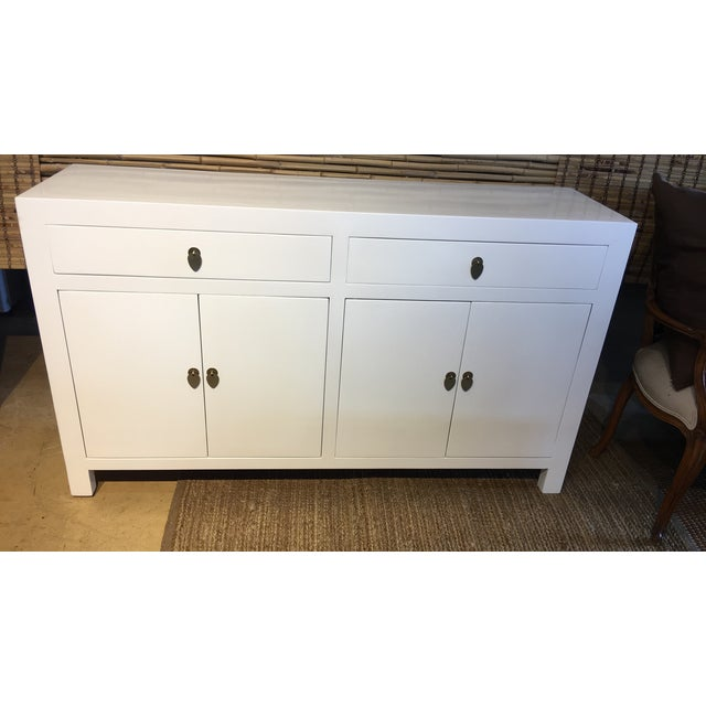 White Lacquered Asian Dresser - Image 3 of 3