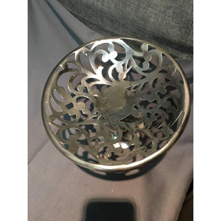 1950s International Silver Co. Silver Plated Floral Pedestal Display Dish Preview