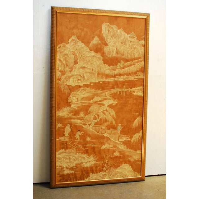 20th Century Chinese Painted Panel - Image 2 of 6