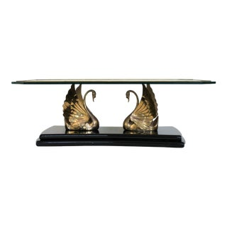 Brass Swan Coffee Table