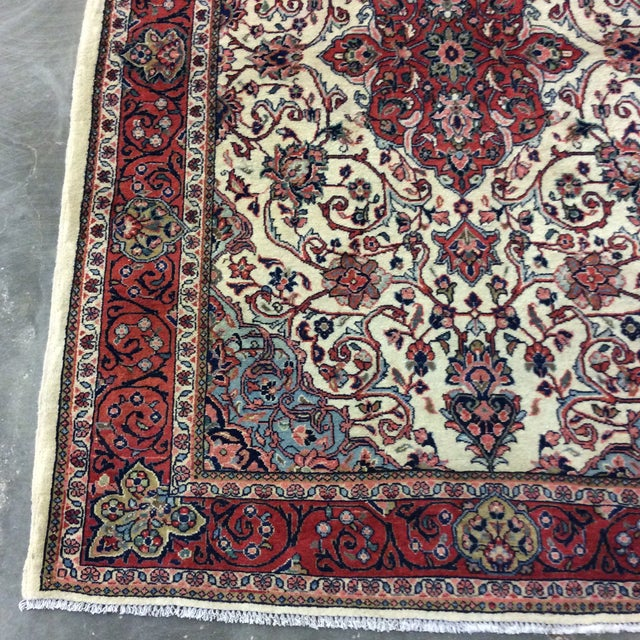 Boho Chic 1980s Vintage Saroukh Persian Rug - 4′3″ × 6′4″ For Sale - Image 3 of 6