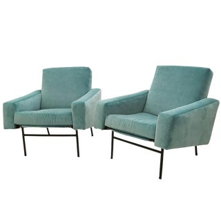 Pierre Guariche Pair of Mid-Century Club Chairs For Sale