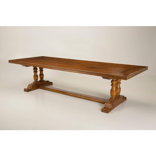 French Inspired Walnut Dining Table For Sale - Image 11 of 11