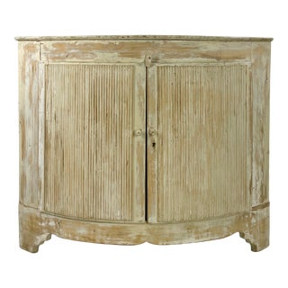 Swedish Cream Painted Corner Cabinet For Sale