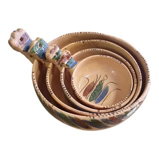 20th Century Mexican Tlaquepaque Nesting Chili Bowls - Set of 4 For Sale