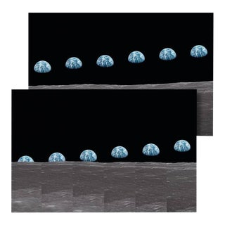 Autographed Buzz Aldrin Apollo 11 'Earthrise Sequence' Art Print For Sale