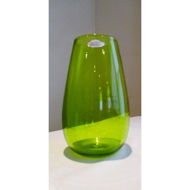 Blenko Green Art Glass Vase - Image 8 of 10
