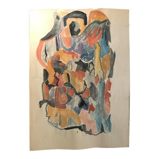 1960s Mid-Century Modern Tadeusz Brozowski Abstract Painting For Sale