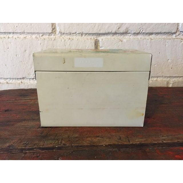 Tin Recipe Box With Fruit - Image 5 of 9