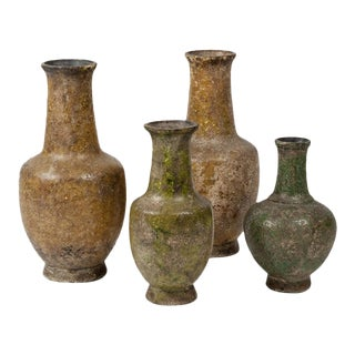 4 Resin Vases in the Style of Antiquity, About 1930. For Sale