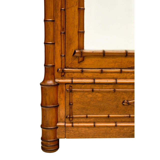 Wood French Antique Bamboo Bonnetiere For Sale - Image 7 of 10