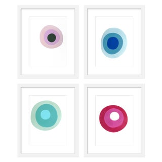 "Large ""Pastille, Ruby Slipper and Chalcedony, Set of 4"" Print by Neicy Frey, 38"" X 50"" For Sale"
